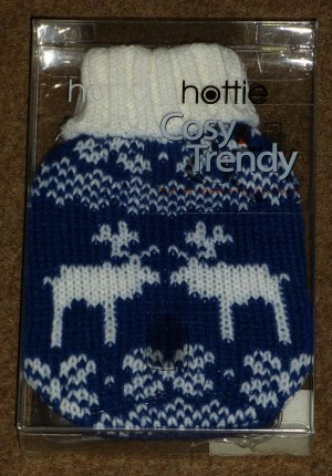 Hand Hottie cozy trendy - Winters design (Blauw)